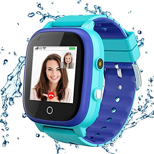 4G Kids Smartwatch, Smart Watch for Kids, IP67 Waterproof Watches with...