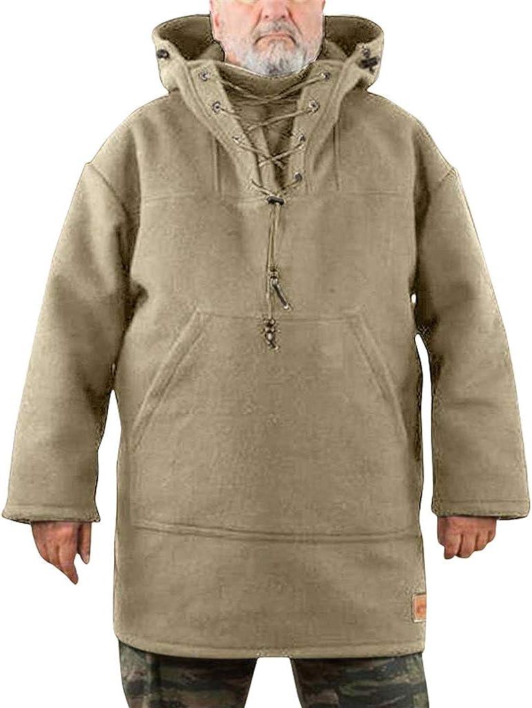 Nobrandd Mens Wool Heavy Coat Winter Herren Freizeitjacke