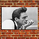 Box Prints Johnny Cash Musik Legende Leinwand Wand