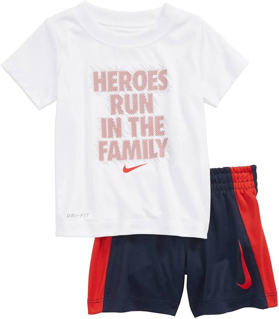Nike Toddler Boys' Dri Fit Short 2 Indianapolis Mall wholesale Sleeve Piec and T-Shirt