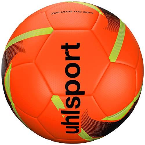 uhlsport Unisex – Erwachsene 290 ULTRA LITE SOFT Ball, Fußball, fluo Oránje/schwarz/fluo gel, 4