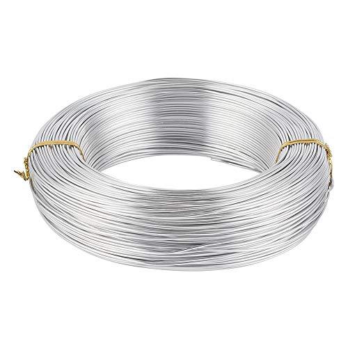 PandaHall Alambre de aluminio de 459FT 17 calibre 1.2mm alambre de aluminio del arte para la fabricación de la joyería - plata