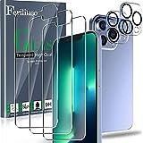 Ferilinso Entworfen für iPhone 13 Pro Panzerglas, 3 Stück HD Klar Schutzfolie mit 2 Stück Kamera Panzerglas, Hülle Fre&lich, Kameraschutz, Bildschirmschutzfolie, 6.1 Zoll 5G, 9H Festigkeit