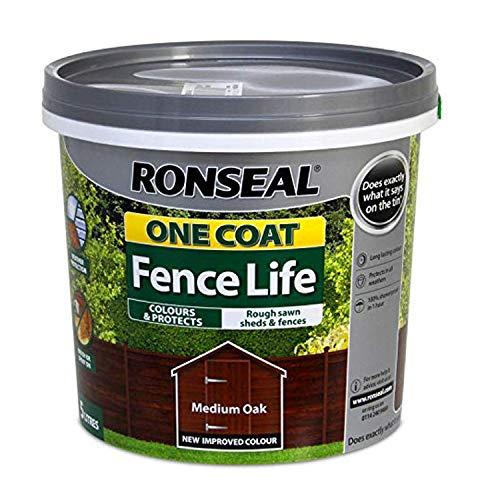 RONSEAL RSLOCFLHG5L een jas hek leven 5 Litre Medium Eik