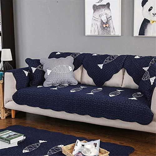 QBFT 100% Katoen Borduurwerk Sofa Covers Voor Honden Dikker Antislipbank Slipcover Zachte Gewatteerde Slaapbank Beschermer Woonkamer Kantoormeubelbeschermer Verkopen Per Stuk