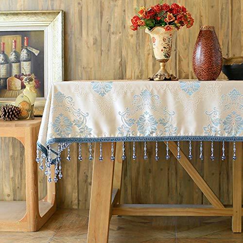 Branfan Modernes klassisches Haus Westliche Tischdecke Tisch Kaffeetisch rechteckige Tischdecke - Blaudruck 100 * 160cm