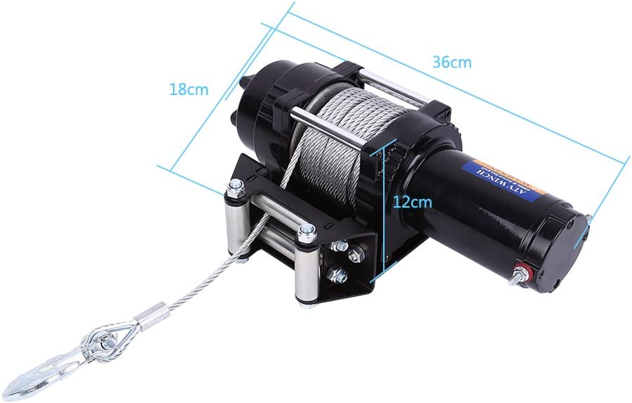 Large special price !! Qiilu Electric Winch 4000 Lb 12V for ATV B Baltimore Mall Towing
