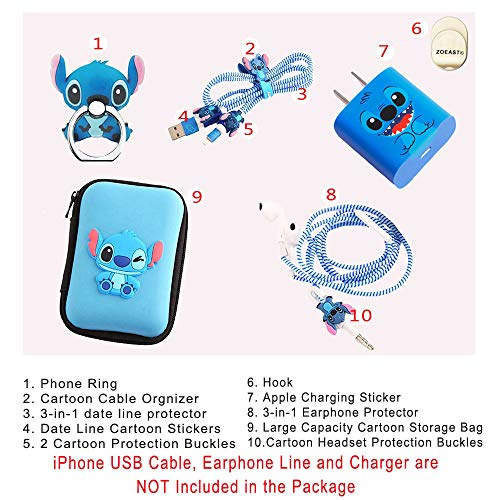Zoeast Kabelschutz für iPhone 11 / 12 Pro Max Mini etc., 18 W, 20 W, USB-Ladegerät, Ladedaten, Kopfhörer-Anschluss, kompatibel mit allen iPhone 11 / 12 Pro Max Mini etc.