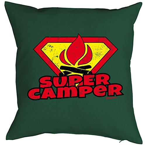 Camping Artikel Kissen mit Füllung Super Camper für den Wohnwagen Caravan für Camper Camping