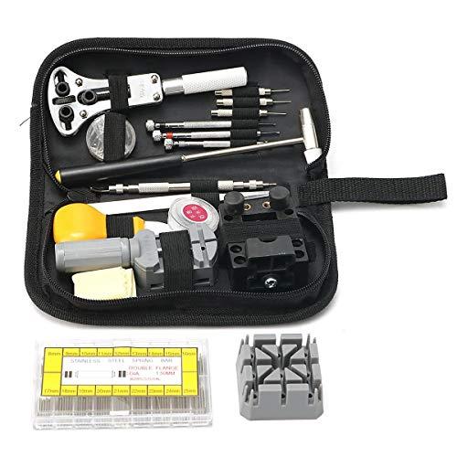 Llave inglesa, Reparación de relojes Kit de herramientas de 8 mm ~ 25 mm de barras del resorte de la correa de acoplamiento de los pernos Remover Llave 380pcs