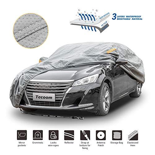 Tecoom HD Super Breathable Waterproof Windproof Snow Sun Rain UV Protective Outdoor All Weather Car...