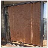 LXHONG Cortina Enrollable Exterior, Persianas Enrollables de Pérgola para Exterior Paneles Laterales de Balcón Extensibles para Terrazas Porche Jardín, Fácil de Instalar