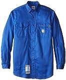 Carhartt Camisa de sarga ligera y grande resistente al fuego para hombre - azul - 3X-Large