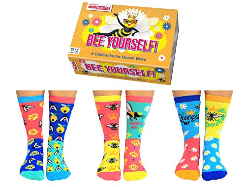 United Oddsocks, Bee Yourself - Calcetines para mujer (talla