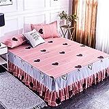 YOBAIH Individual Princesa Cubierta Hoja de Cama 1,8/1,5/2,0 M Bedspread Bed Cubrir Falda Faldas De La Cama (Color : 5, Size : 1.5x2.0m)