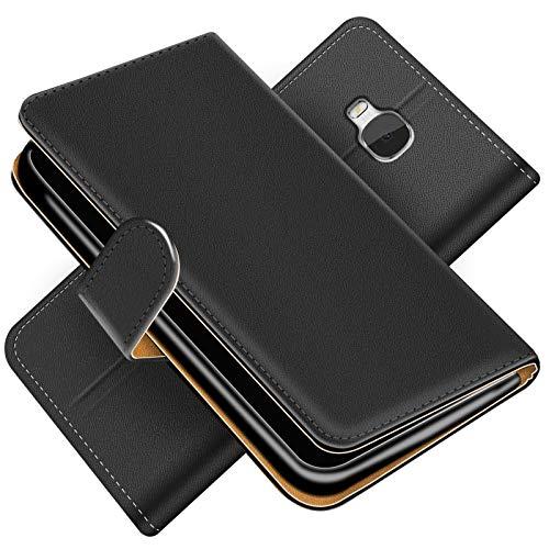 Conie BW3067 Basic Wallet Kompatibel mit Honor 5X, Booklet PU Leder Hülle Tasche mit Kartenfächer und Aufstellfunktion für Honor 5X Case Schwarz - 3