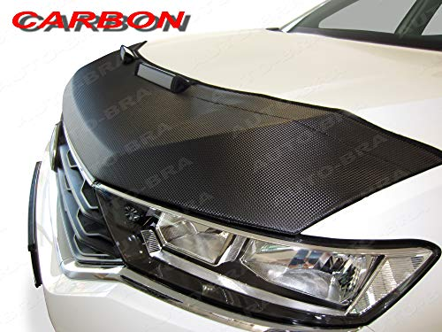 AB3-00256 CARBON OPTIK PROTECTOR DEL CAPO Compatible con Audi Q2 desde 2016 Bonnet Bra TUNING Capó de Coche