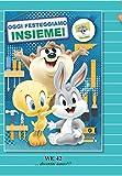 Tarjeta Felicitación cumpleaños con Imán Gato Silvestro Piolín Taz y Bugs Bunny Baby Looney Tunes Warner Bros