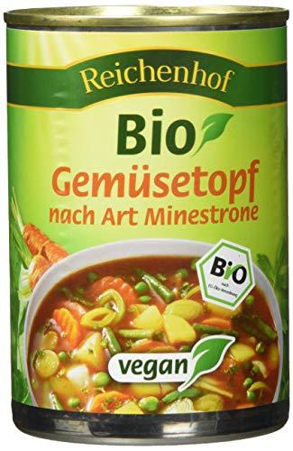 Reichenhof Bio Gemüse-Eintopf Minestrone - vegan, 6er Pack (6 x 400 g)