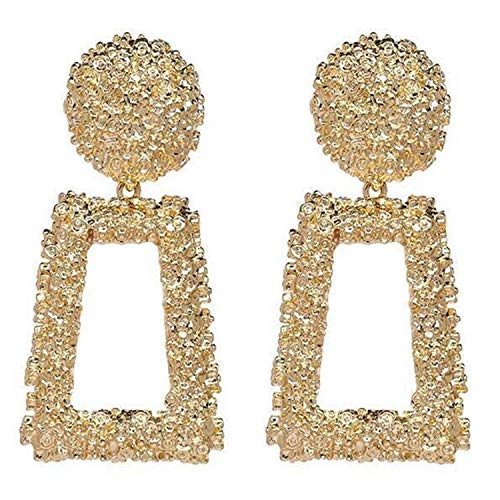 Hermosa Perforación Del Oído, Stud Pendientes, NEW Big Vintage Earrings For Women Gold Geometric Statement Earring Metal Earing Hanging Trend Fashion Jewelry Cc 3