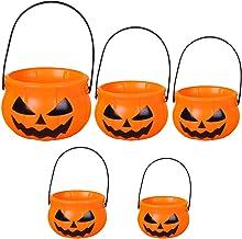 SOIMISS Halloween Pompoen Emmers Snoep Houder Festival Truc Of Behandelen Zakken Halloween Party Benodigdheden Decors 5Pcs