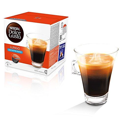 Kaffeepads Kapseln Dolce Gusto Original Nescafe 'Caffe 48 Caffe Lungo DECAFFEINATO