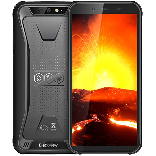 Blackview BV5500 IP68 - Teléfono Celular Desbloqueado Resistente al Agua, 2 GB + 16 GB 3G Android 8.1 Dual SIM 5.5 Pulgadas 4400 mAh batería Quad Core [MIL-STD 810G] Blackview Resistente, Color Negro