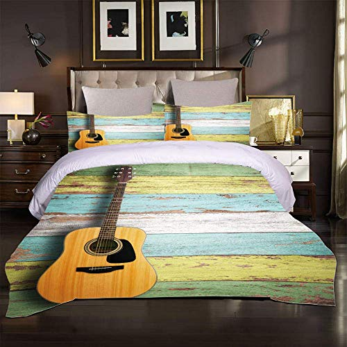 Juego de Cama 3D Juego de Cama niñas niño Instrumento Musical Guitarra...