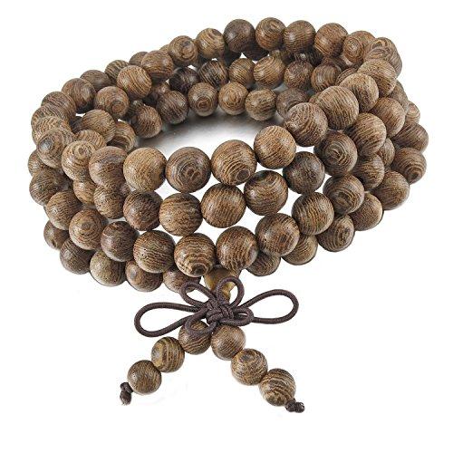 Beyond Dreams® Holz Perlen Kette | Perfektes Accessoire | Perlen Holzkette | Holzperlen Armband | Elastische Kette | Natürlicher Schmuck Damen Herren | Schmuck für Sie und Ihn | unisex