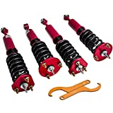24 Ways Adj. Damper Coilovers for Lexus IS250 IS350 2006-2013/ GS350 GS300 2007-2011/ GS430 2006-2007 RWD Coil Over Springs Suspensions Struts Assembly - RED