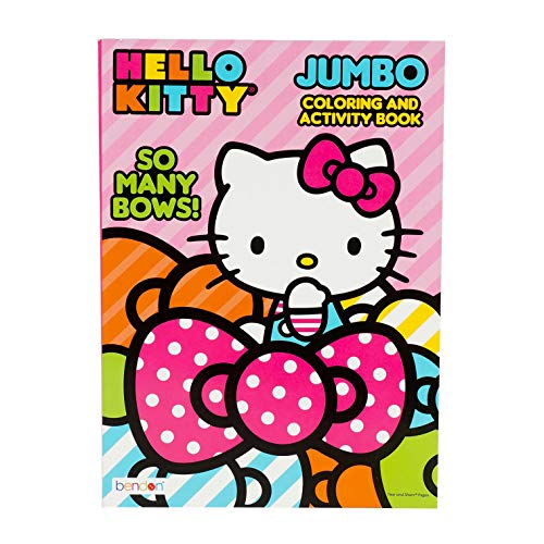Hello Kitty 'So Many Bows!' Jumbo Activity and Coloring Book for Kids Toddlers - 96 pgs