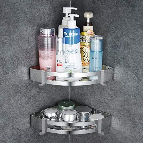 GERUIKE Estante triangular para ducha de baño, Cesta de ducha para pared,...