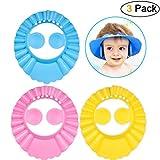 Protección Pinke Cap Champú ajustable Sombrero de baño Seguridad Dibujos animados Bebés Niños Swim Sombrilla (3pcs)