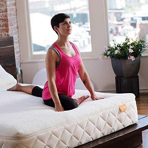 Happsy 100% Organic Mattress - Twin - Healthy Non-Toxic Sleep - Latex Over Coils - Mattress in a Box - Green Eco Bed