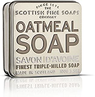 Scottish Fine Soaps Serie Aromas Escoceses - Jabón en lata 100 g - Aroma Avena (