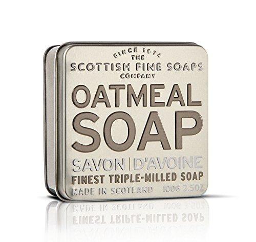 Scottish Fine Soaps Serie Aromas Escoceses - Jabón en lata 100 g - Aroma Avena (Exfoliante)