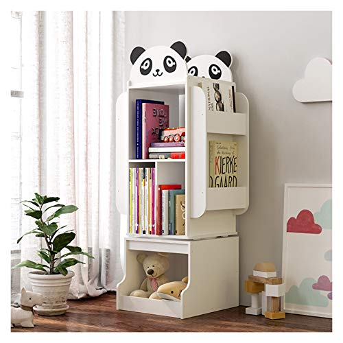 Estantería para libros de madera con forma de animal, de gran capacidad, organizador de almacenamiento, organizador para el hogar, habitación de los niños, guardería, escritorio (color: blanco-B)