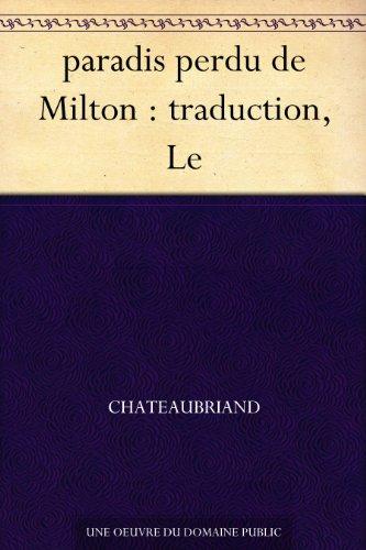 paradis perdu de Milton : traduction, Le