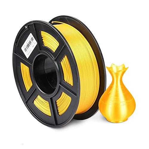 PLA Silk Gold 1kg 1.75mm Silk Texture 3D Printer Filament with Spool Colorful Eco-friendly Material for DIY Artwork Printing pla filament