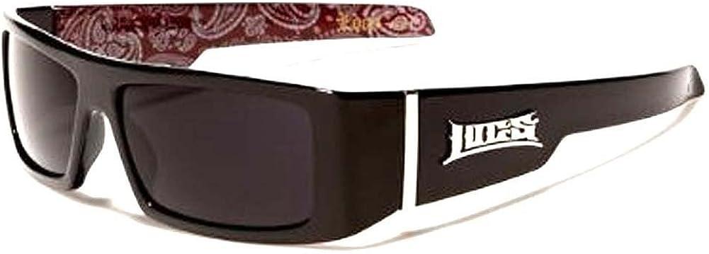 Locs Sunglasses 0182 Dark Lens Inside Red Frame Award Online limited product Black Print