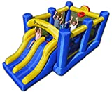 Island Hopper Racing Slide and Slam Recreational Bounce House