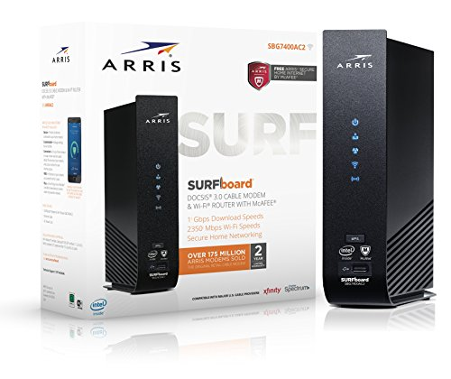 ARRIS Surfboard SBG7400AC2 Cable Modem/Wi-Fi Router with McAfee, 1000548