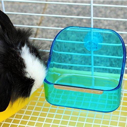 lenhar Kleine Auflaufform Animal und Fressnapf Doppelt Gebrauch Kunststoff Lebensmittel Wasser Futternapf für Hamster Kaninchen Chinchilla Meerschweinchen Frettchen (zufällige Farbe) - 2