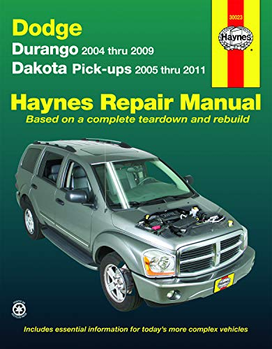 Haynes Repair Manual Dodge Durango 2004 Thru 2009 and Dakota Pick-ups 2005 Thru 2011;Haynes Automotive…