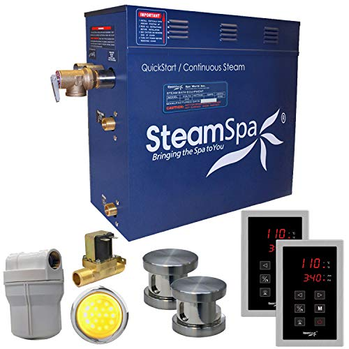 Cheapest Prices! Royal 10.5 kW QuickStart Steam Bath Generator Package with Built-in Auto Drain Fini...