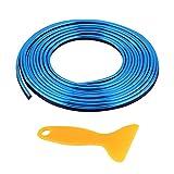 Linea Decorativa per Auto Linea Decorativa per Modanatura Decorativa - Strisce esterne interne per Auto, Riempitivo Flessibile in PVC, Strisce Eleganti per Paraurti per Portiere, 5 Metri(blue)