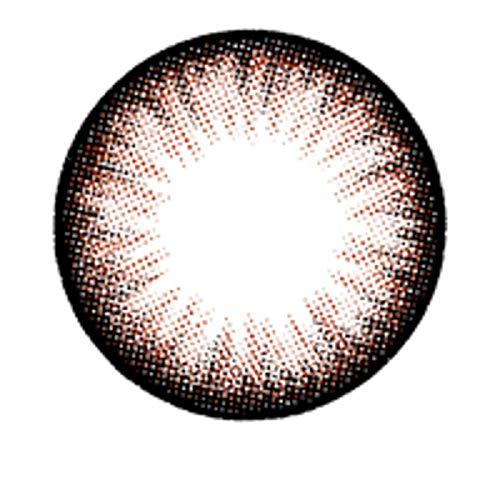 Matlens – EOS Farbige Kontaktlinsen mit Stärke braun brown circle lenses Big eyes ALMOND 2 Linsen 1 Kontaktlinsenbehälter 1 Pflegemittel 50ml -225