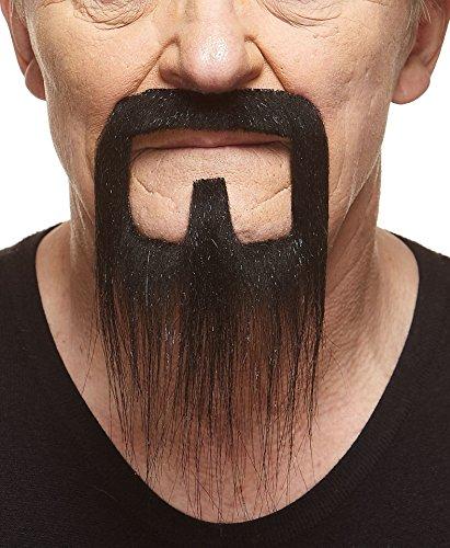 Mustaches Langer schwarzer Henriquatrer fälschen, selbstklebend Bart