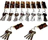 10 Schließzylinder gleichschließend, Türschloss mit 50 Schlüssel 60mm