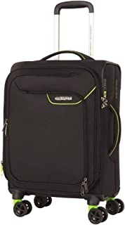 American Tourister Applite 4Security Softside Carry-On, 55 Centimeter, Black/Green